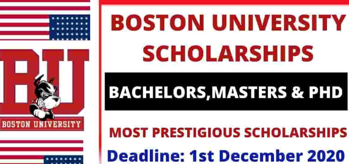 Boston University Scholarships 2021 for (BS, MS and PhD) Study in USA
