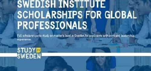 Swedish Institute Scholarships for Global Professionals (SISGP)