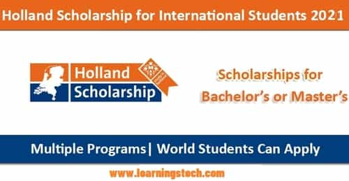 Holland Government Scholarship 2022
