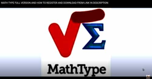 MATHTYPE REGISTERED SOFTWARE FOR LIFE