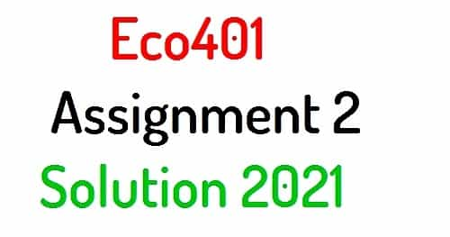eco401 assignment 2 solution 2021