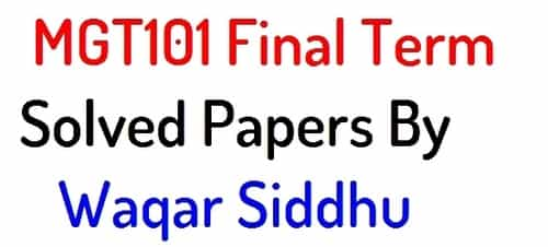 mgt101 final term solved papers by waqar siddhu