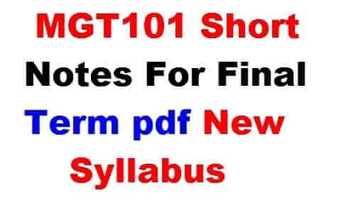 mgt101 short notes for final term pdf