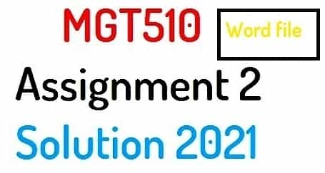 mgt510 assignment 2 solution 2021