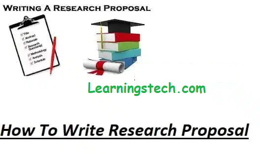 How To Write A Research Proposal 2021